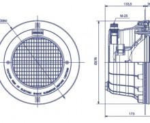 Šviestuvas 300W/12V plastikinis 07852