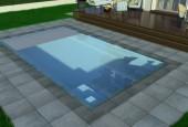 stiklo pluosto baseinas dove
