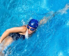 Swimming. Freestyle Woman